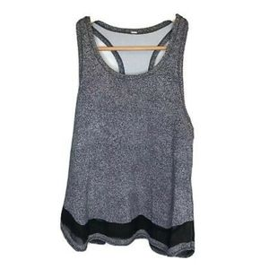 LULULEMON twist and train black white tank top 2-4